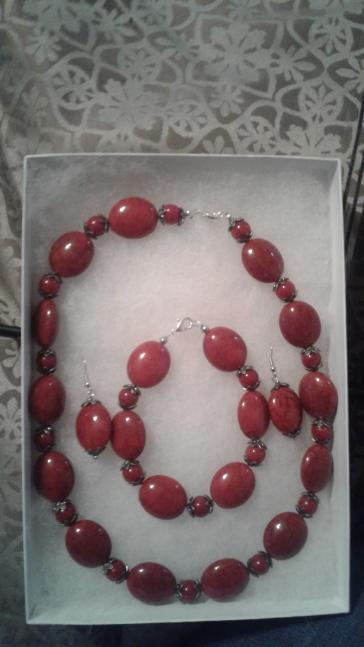 Oval 3 piece necklace